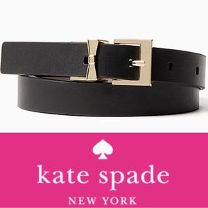 Kate Spade 🎀 Gold & Black Reversible Leather Belt
